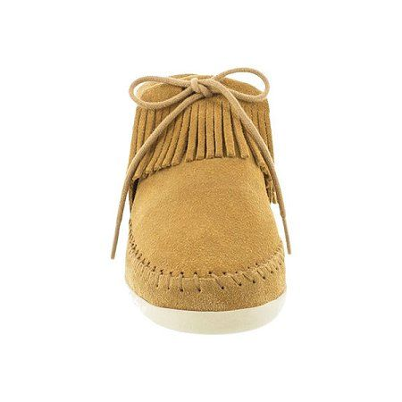 082f7aa2289 Minnetonka Moccasins - Women s minnetonka venice ankle boot moccasin in  brown suede. Soft