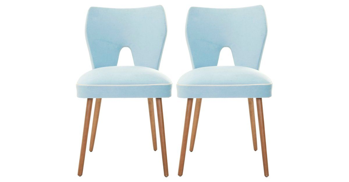 Best Baby Blue Julia Dining Chairs Pair Dining Chairs Blue 400 x 300
