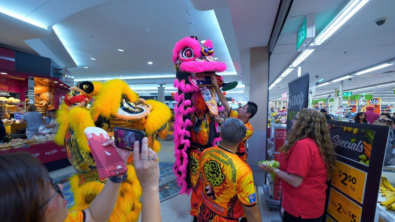 Lion Dance Chinese New Year Southlands Boulevarde Coles
