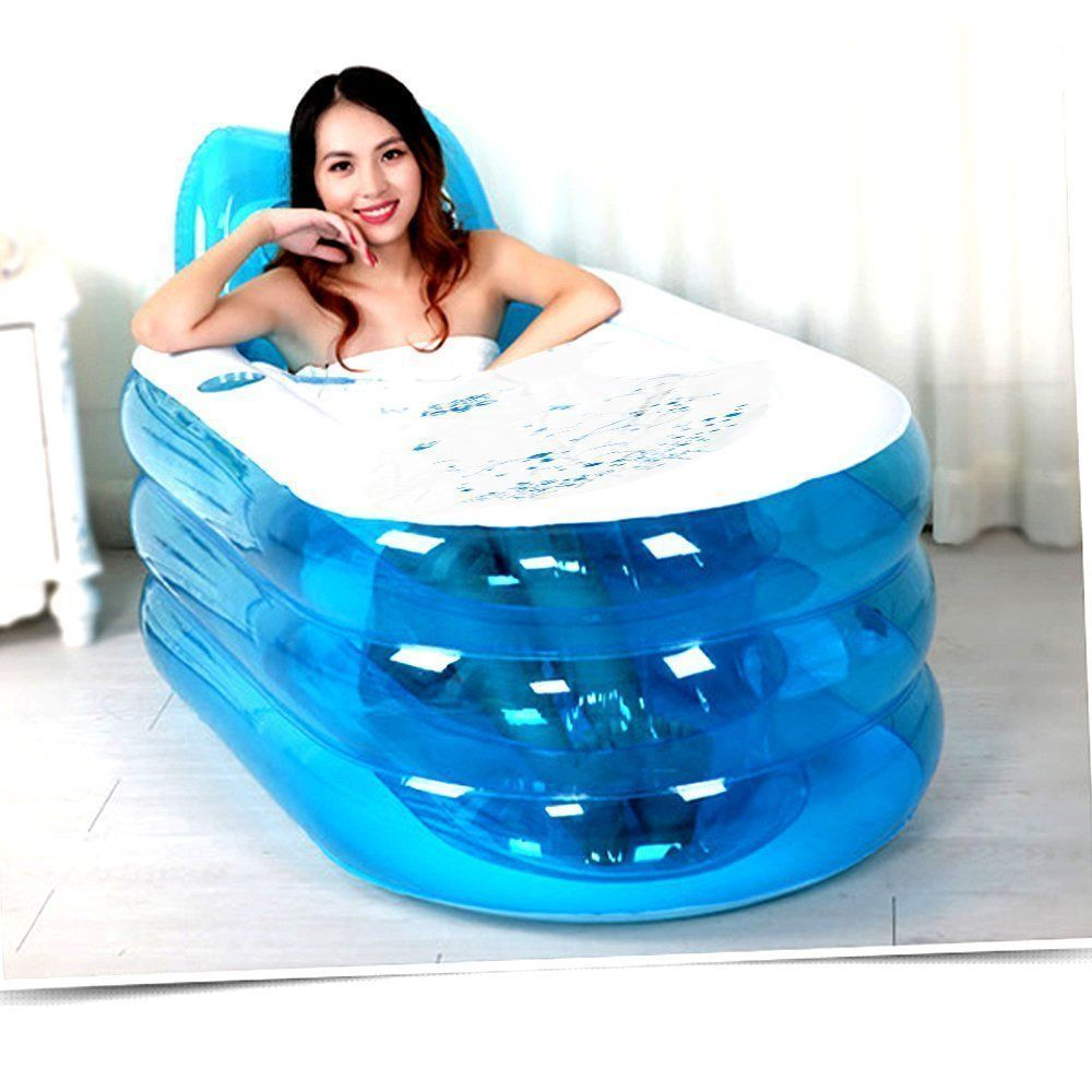 Adult Portable Warm Bathtub Inflatable Bath Tub Electric Air Pump ...