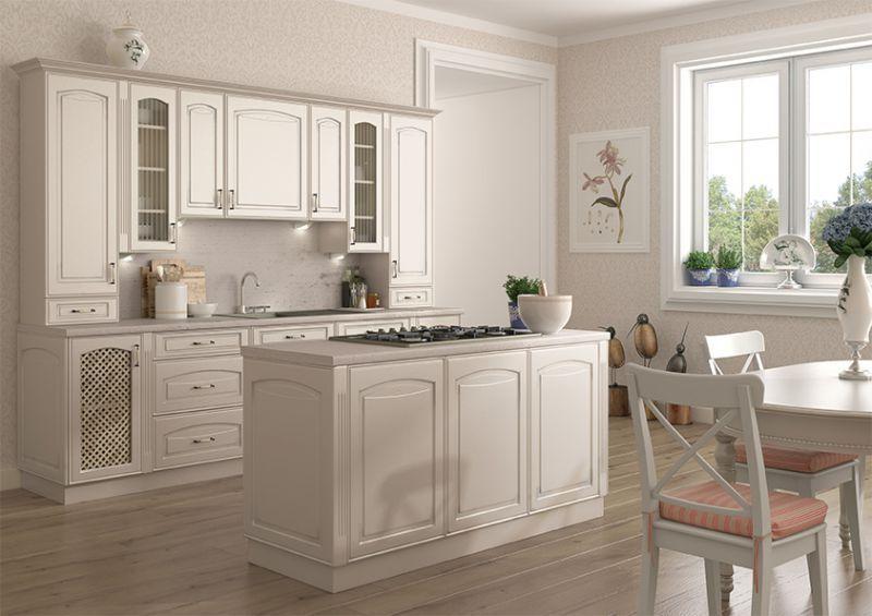 Alina biała kuchnia stylowa  meblodom com pl  Pinterest   -> Kuchnia Fornir Cena
