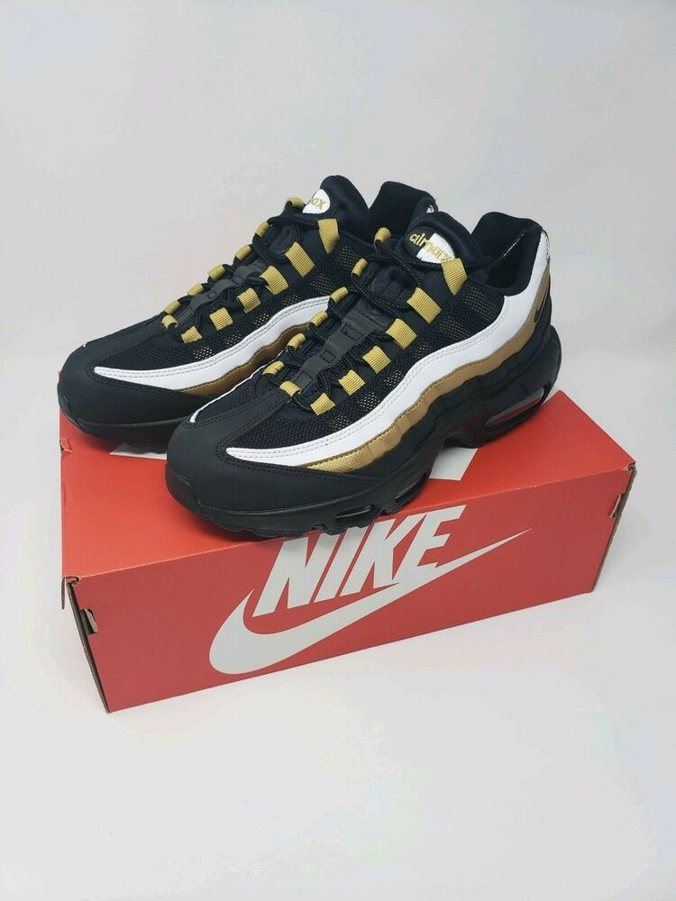ddcd0713e9 NEW Nike Air Max 95 OG AT2865-002 BLACK/METALLIC GOLD Mens size 7 ...