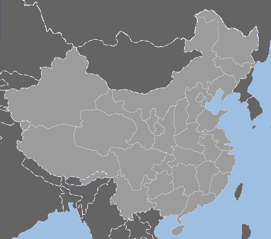 China provinces blank map. | Blankety Blank | China, Map, China map