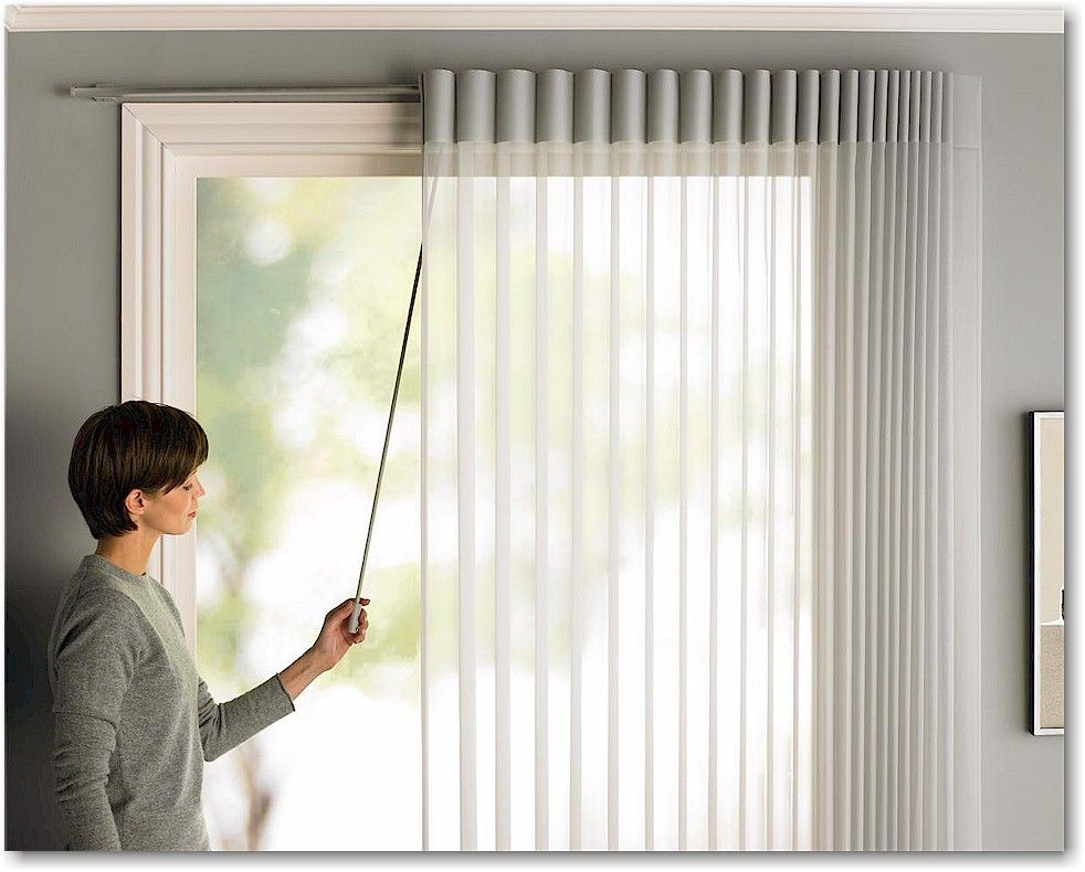 Hunter Douglas Luminette Privacy Sheers With Traveling Wand Option