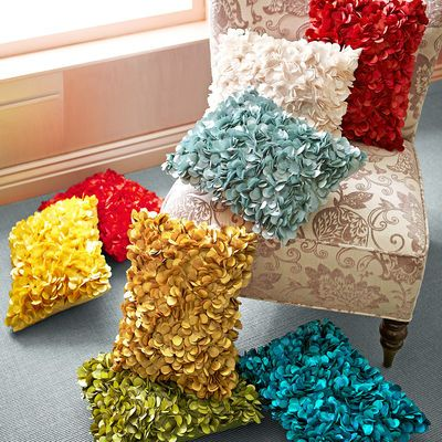 Petals Pillow - I want one in Orange for the side chair!