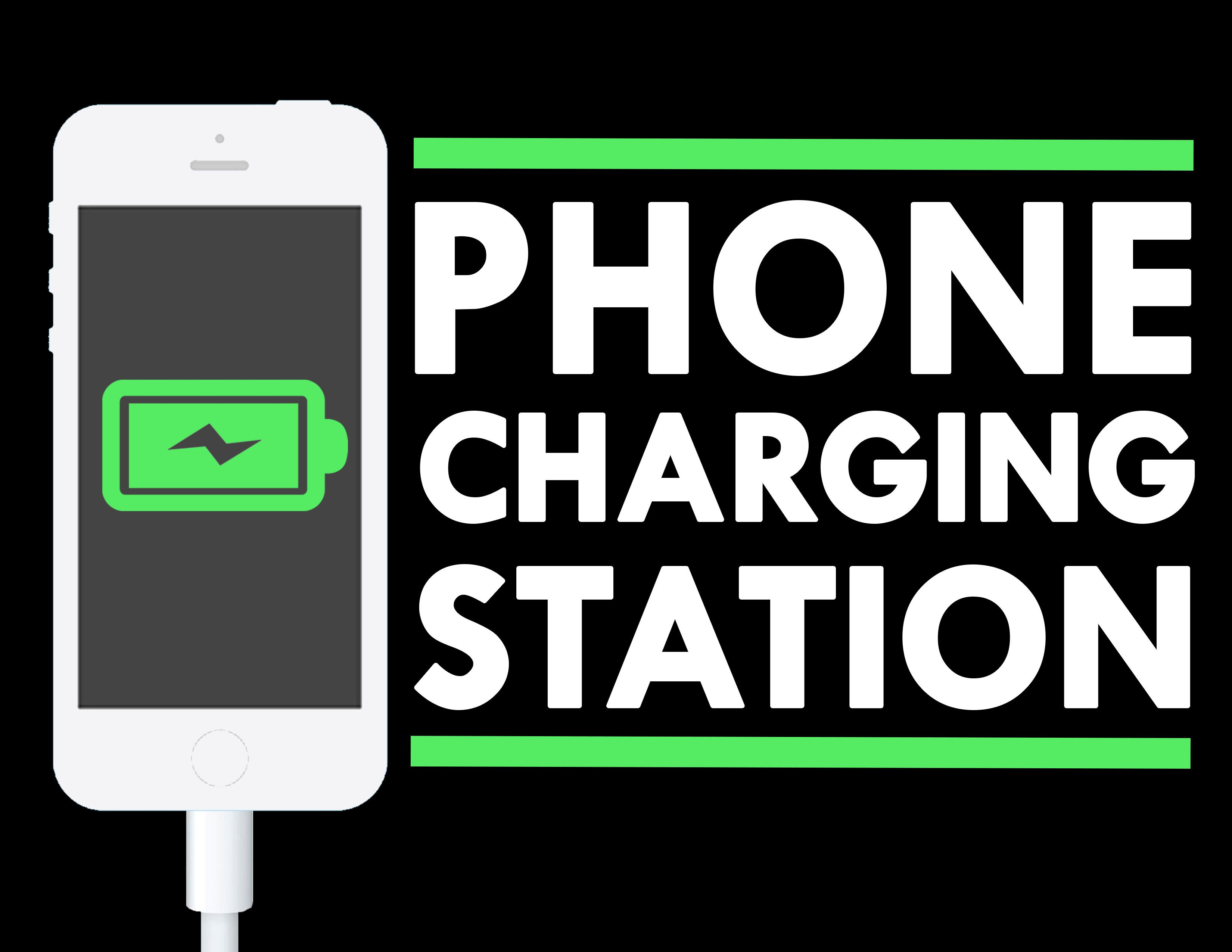 Phone Charging Station With Vector Library Graphic