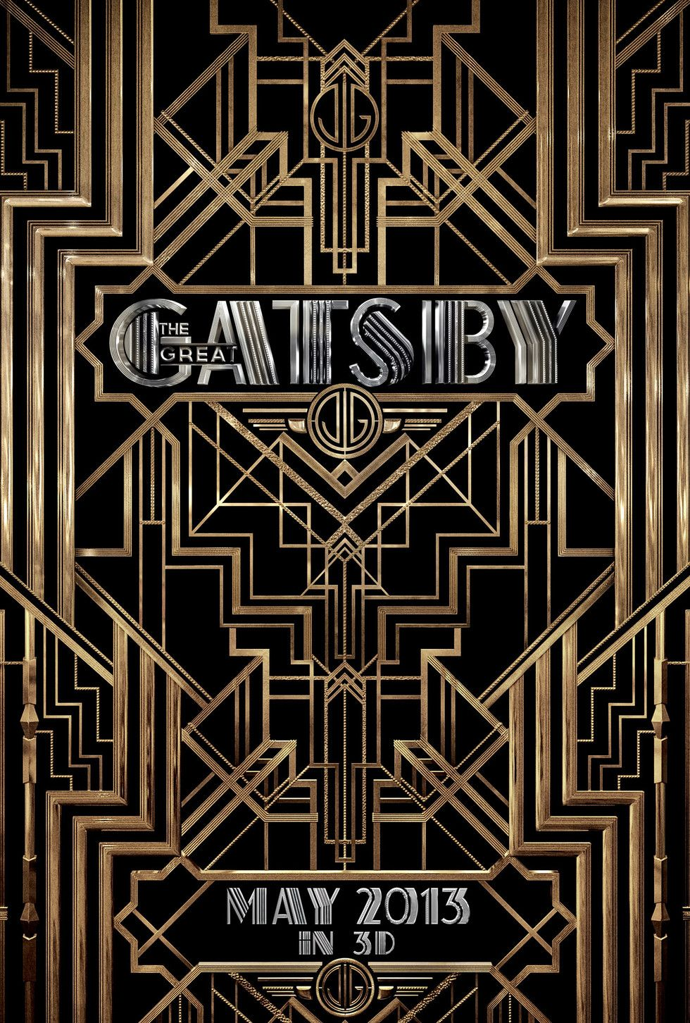 The Great Gatsby Movie Poster 2 Art deco fashion, Art