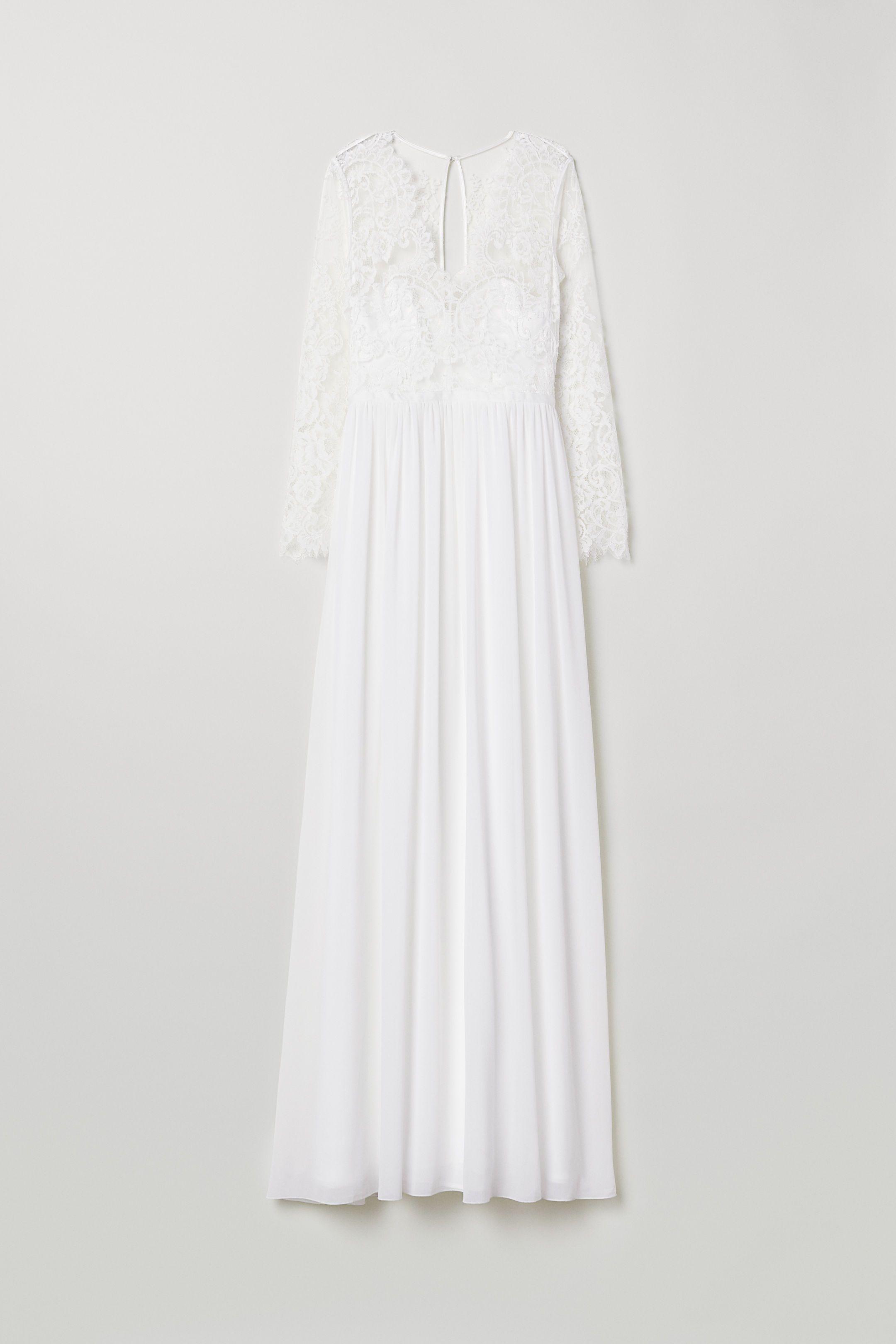 h&m brautkleid | weißes spitzenkleid, hochzeitskleid spitze