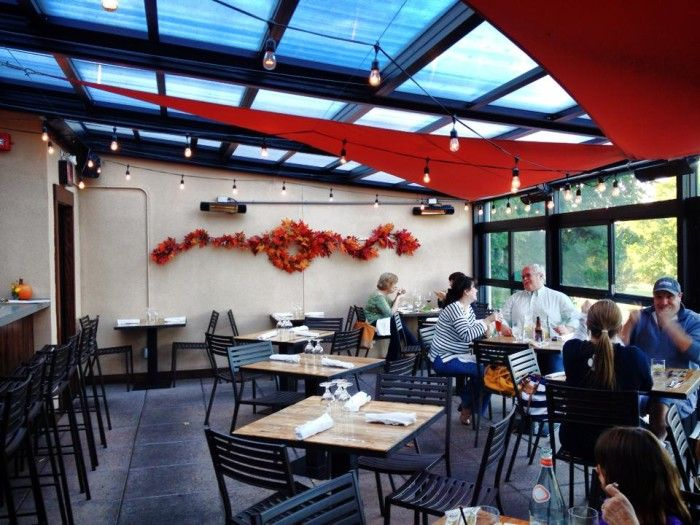 Roll A Cover S Retractable Restaurant Enclosure At Ecco Rooftop Eatery Bar In Bethel Ct