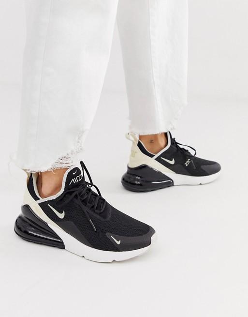 Pompeya donde quiera Túnica  Nike Air Max 270 in black and white | ASOS | Nike air max, Nike air max  white, Air max 270