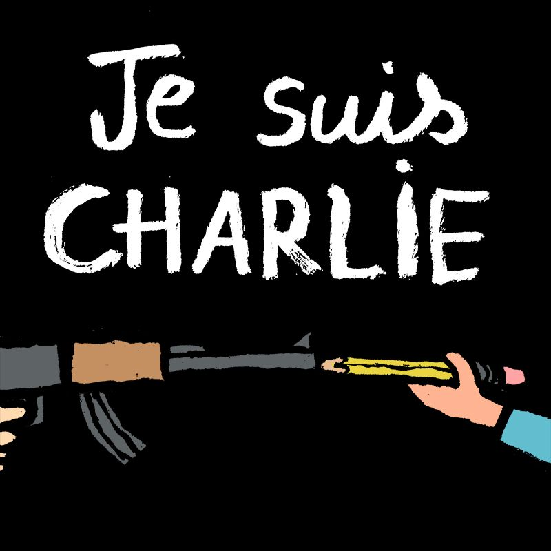I Am Devastated By What Happened At Charlie Hebdo Freedom Of Speech Is A Universal Right And A Worthy Cause Jean Jullien Charlie Hebdo Words Jean Jullien