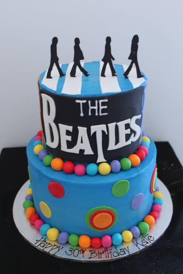Pleasant The Beatles Abbey Road Cake Beatles Birthday Cake Beatles Funny Birthday Cards Online Alyptdamsfinfo