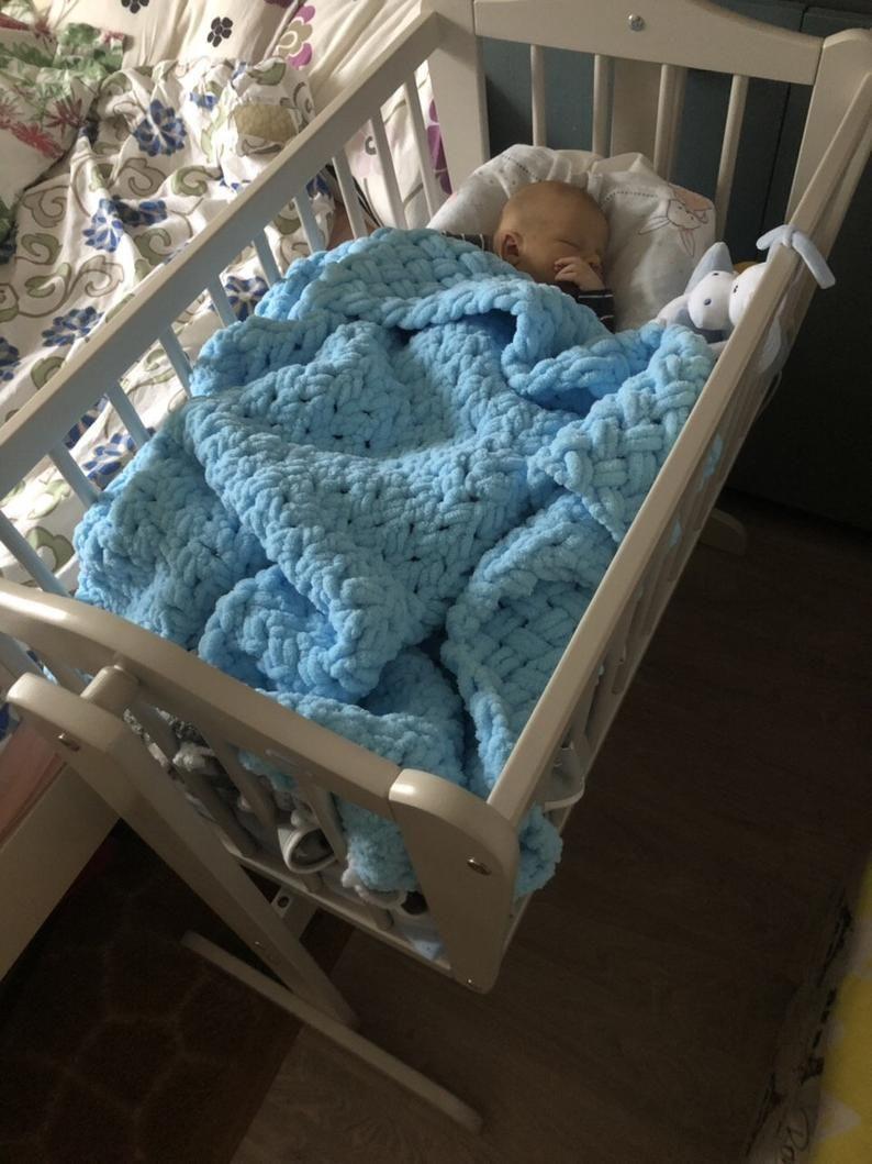 Birthday gift Knit Baby Blanket Nursery Decor Baby Shower gift Crib Size Baby Blanket,Newborn Photo Prop Knit Nursery Throw Blanket
