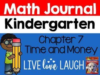 Scott Foresman Kindergarten Math Journal Chapter 7 Time And Money Math Journals Math Journals Kindergarten Kindergarten Math