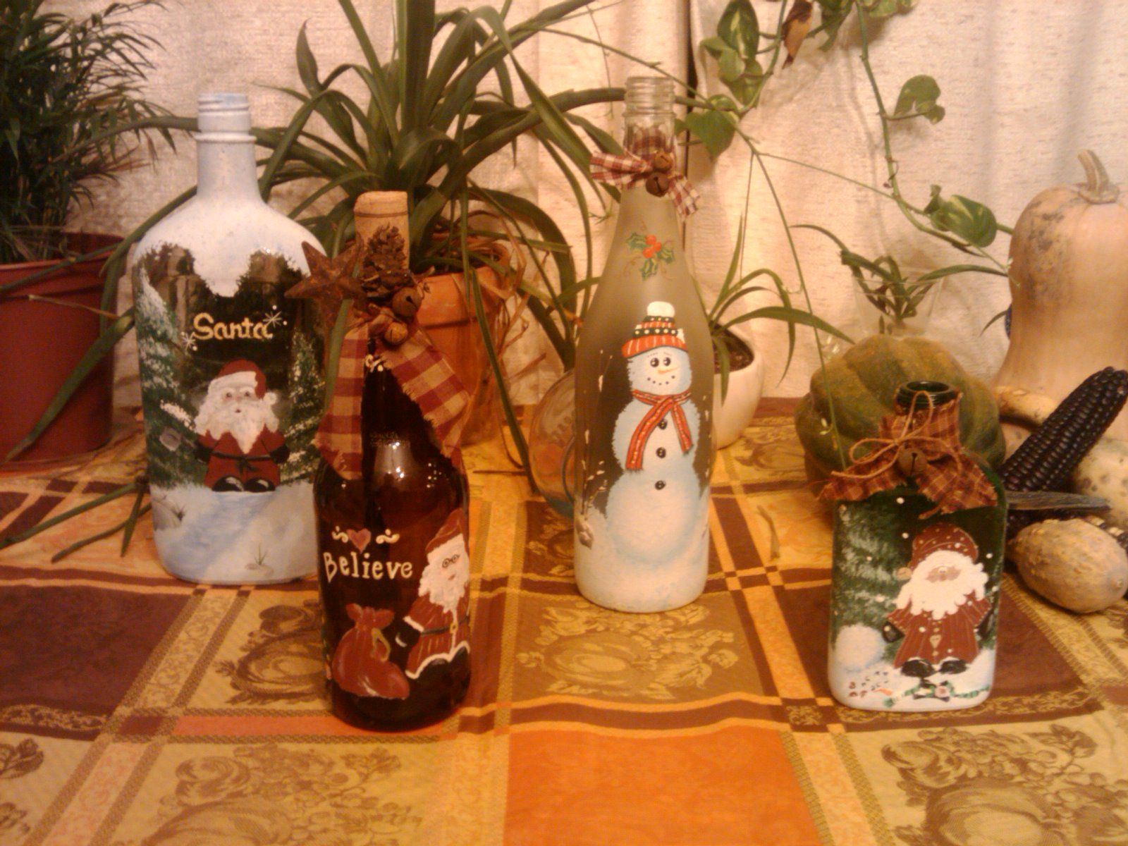 More painted bottles