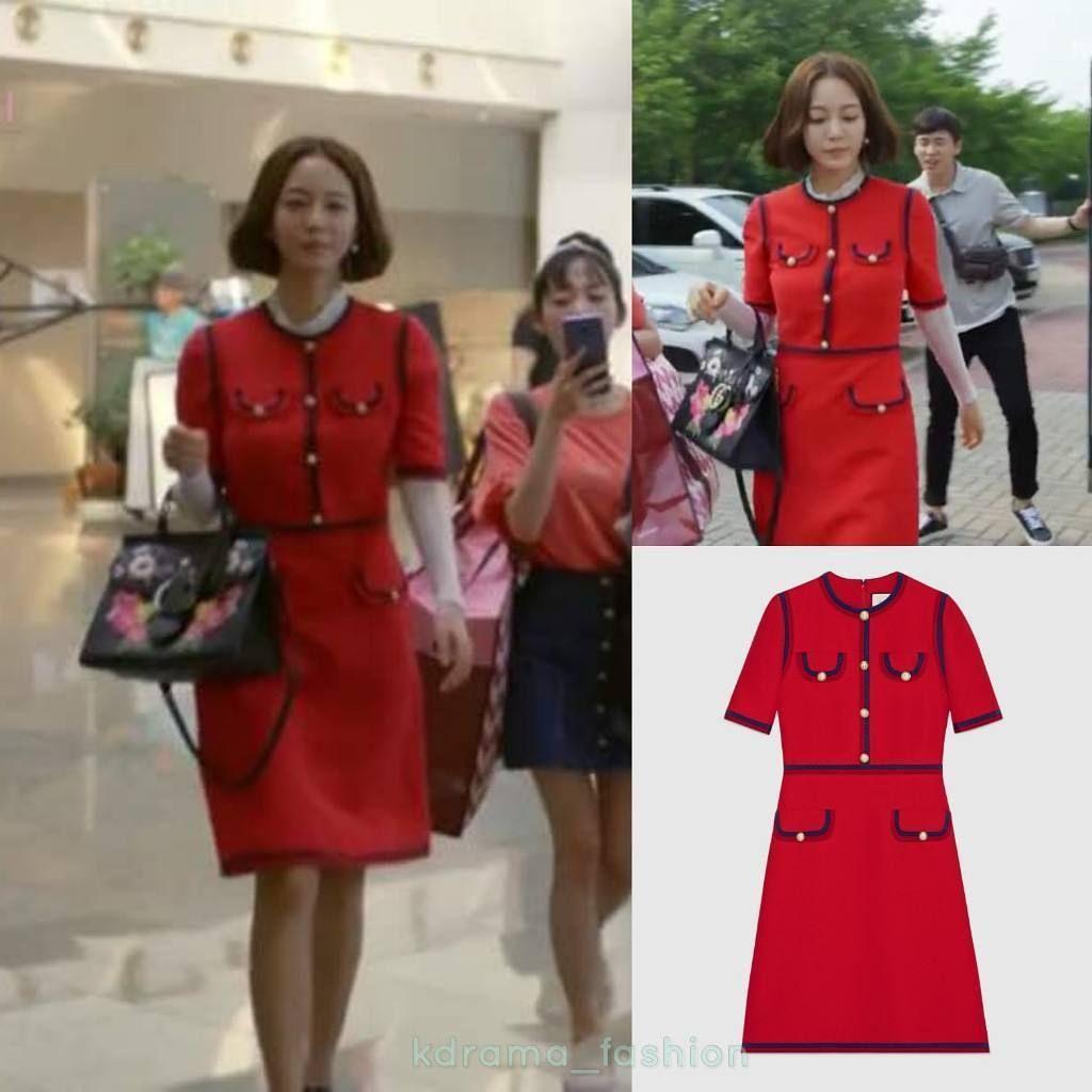 Dramafashion Idol Hanyeseul Pick Gucci Silkdress Idolpick Womensfashion Koreandrama Mbcdrama 20thcenturyboyandgir Fashion Silk Dress Girl Drama