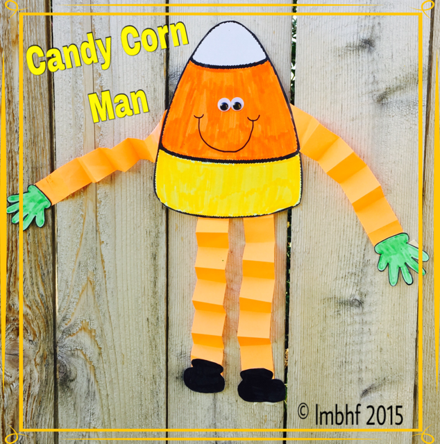 Free Template For The Candy Corn Man