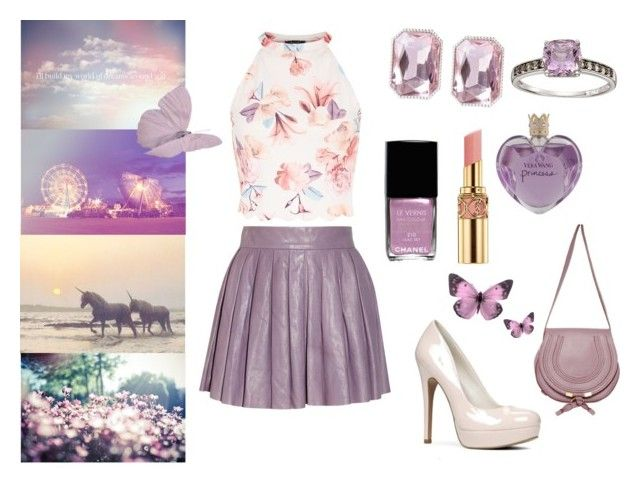 Dreamland by the-girl-in-the-red-dress on Polyvore featuring polyvore fashion style Alice + Olivia Chloé Lab Vera Wang Chanel Yves Saint Laurent clothing