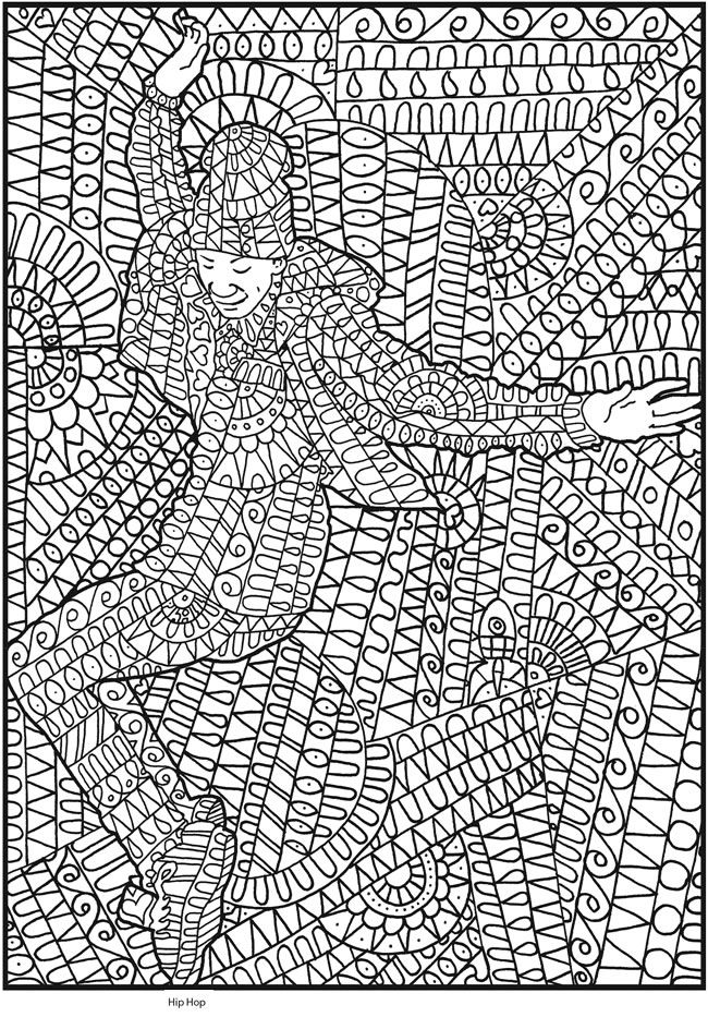 Welcome To Dover Publications Creative Haven Insanely Intricate Shall We Dance Coloring Book By Phill Evans Pic 2