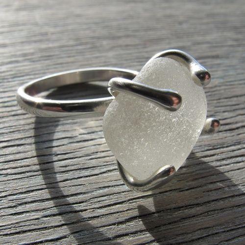 Bespoke Sea Glass Ring...pinned by ♥ wootandhammy.com, thoughtful ...