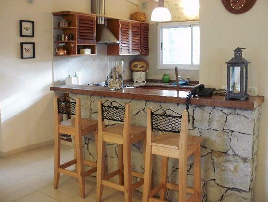 Barra desayunadora de piedra ideas para el hogar for Barras de cocina rusticas