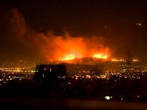 Fire Destroys Homes In Sylmar Ca Sylmar Fire San Fernando Valley