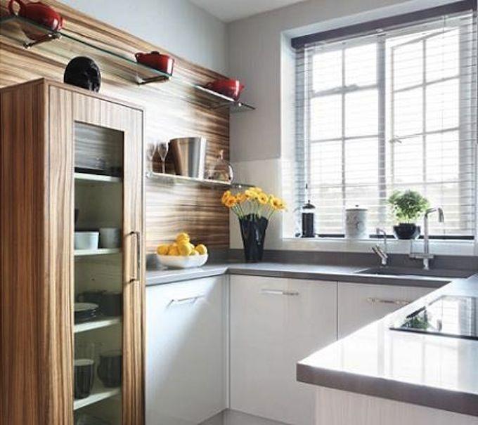 Pequecocina cocinas pinterest alacena cocinas y for Fotos de decoracion de cocinas pequenas