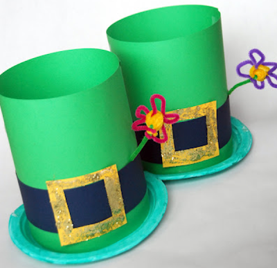 What fun hats for the elementary classroom during St. Patrick's Day!