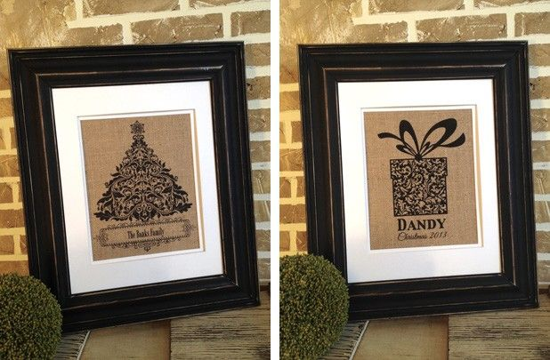 Personalized Burlap Christmas Prints - 6 Styles! 40% off at Groopdealz