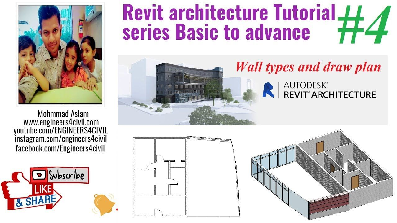 3 Create Wall In Revit Adjust Height Of Wall Revit Architecture Tutorial In Hindi Https Youtu Be Hjlrqkn Revit Architecture Autodesk Revit Tutorial