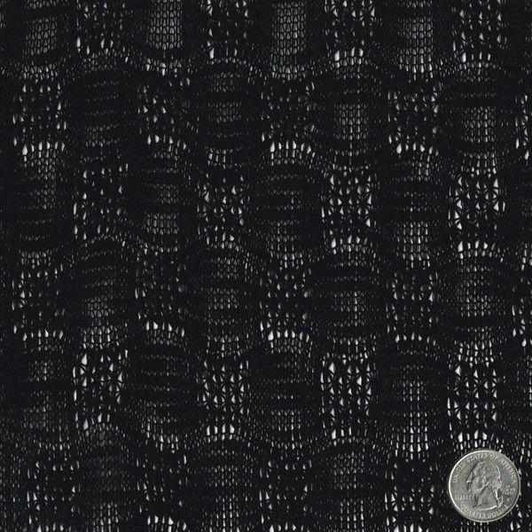 Black Paper Lantern Sweater Knit Lace Fabric $8.40