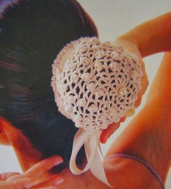 Patrones Crochet: Redecilla de Pelo en Crochet Patron … | Pinteres…