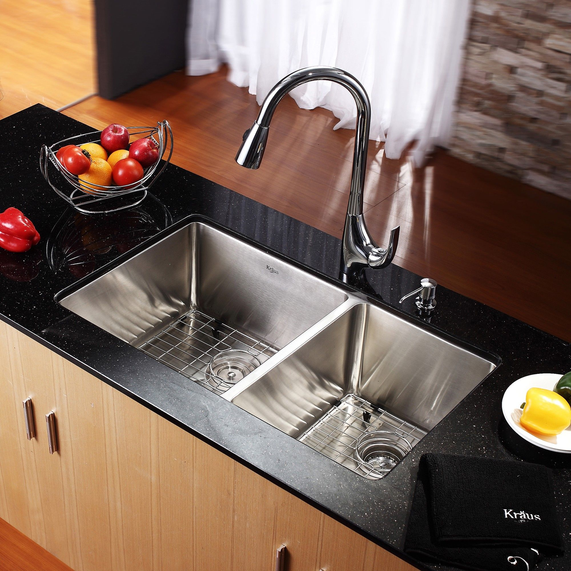 33 inch undermount 6040 double bowl 16 gauge stainless steel kitchen sink kitchen - Stainless Steel Kitchen Sink Gauge