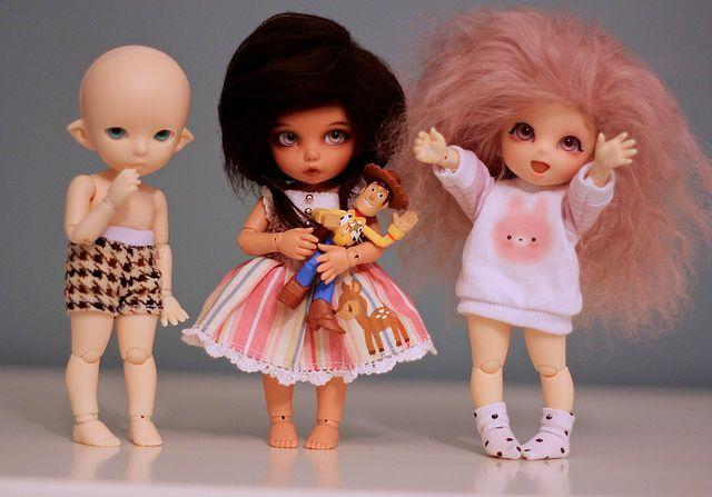 Recast bjd cuties -- Pukifees by Koukla♡, via Flickr