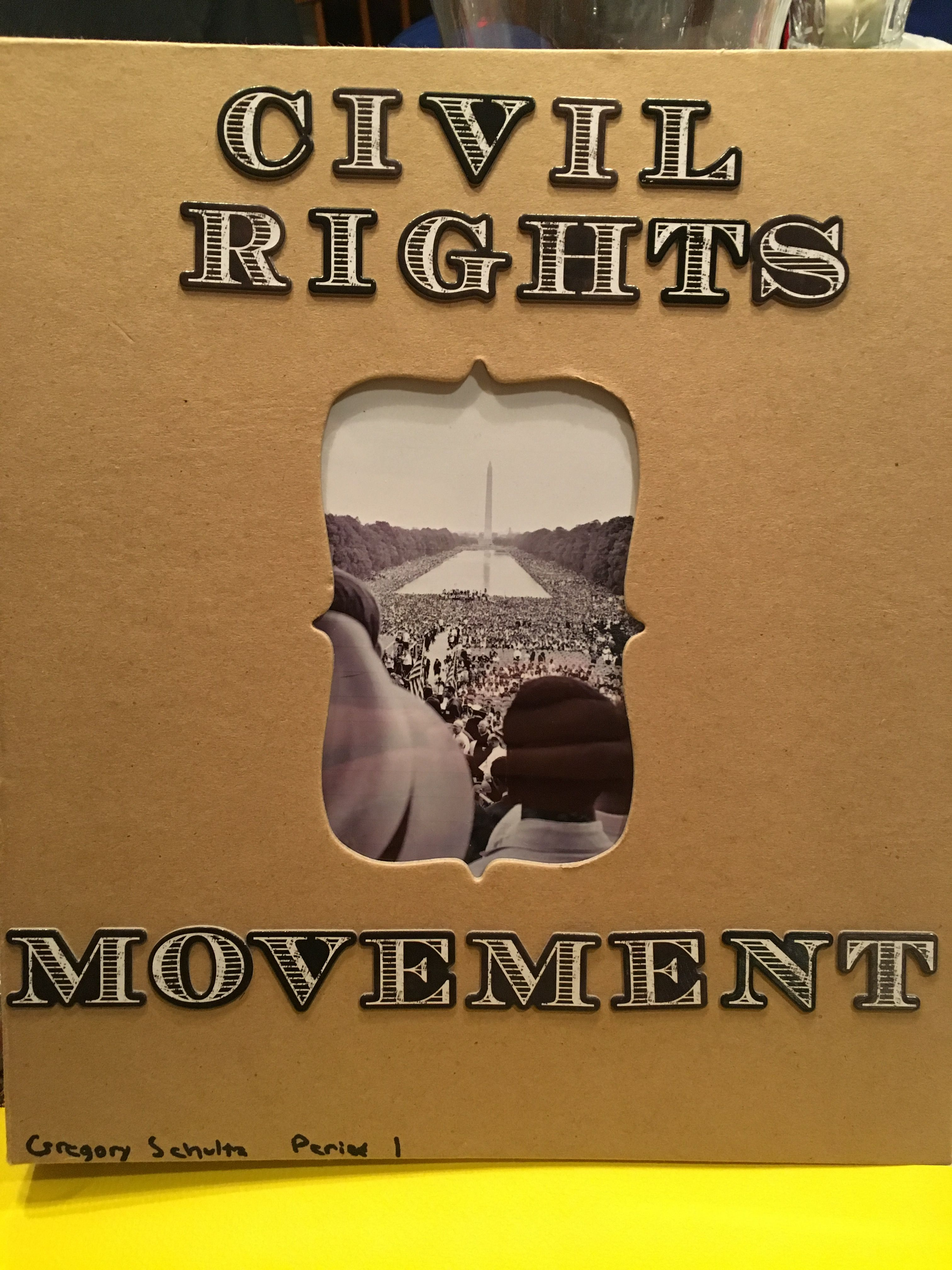 Civil Rights Movement Scrapbook Project Cover Honors