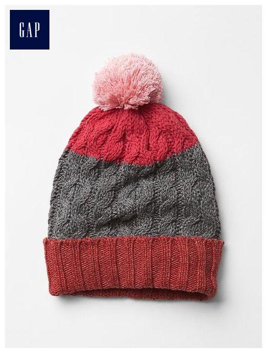 Stripe pom-pom hat   Hats   Pinterest   Pom pom hat and Knitting ideas