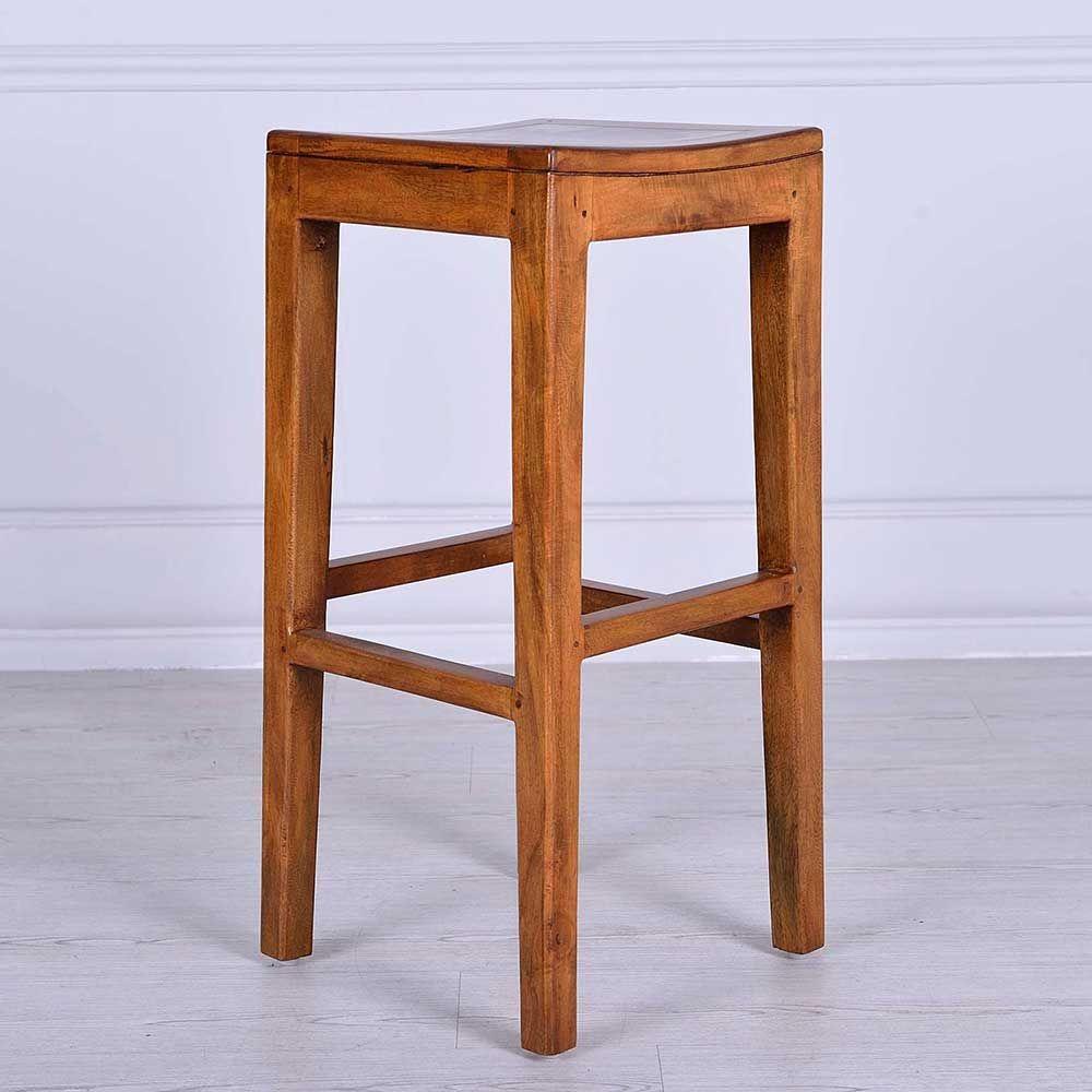 Küchenhocker aus Mangobaum Massivholz Loft Design Jetzt bestellen ...