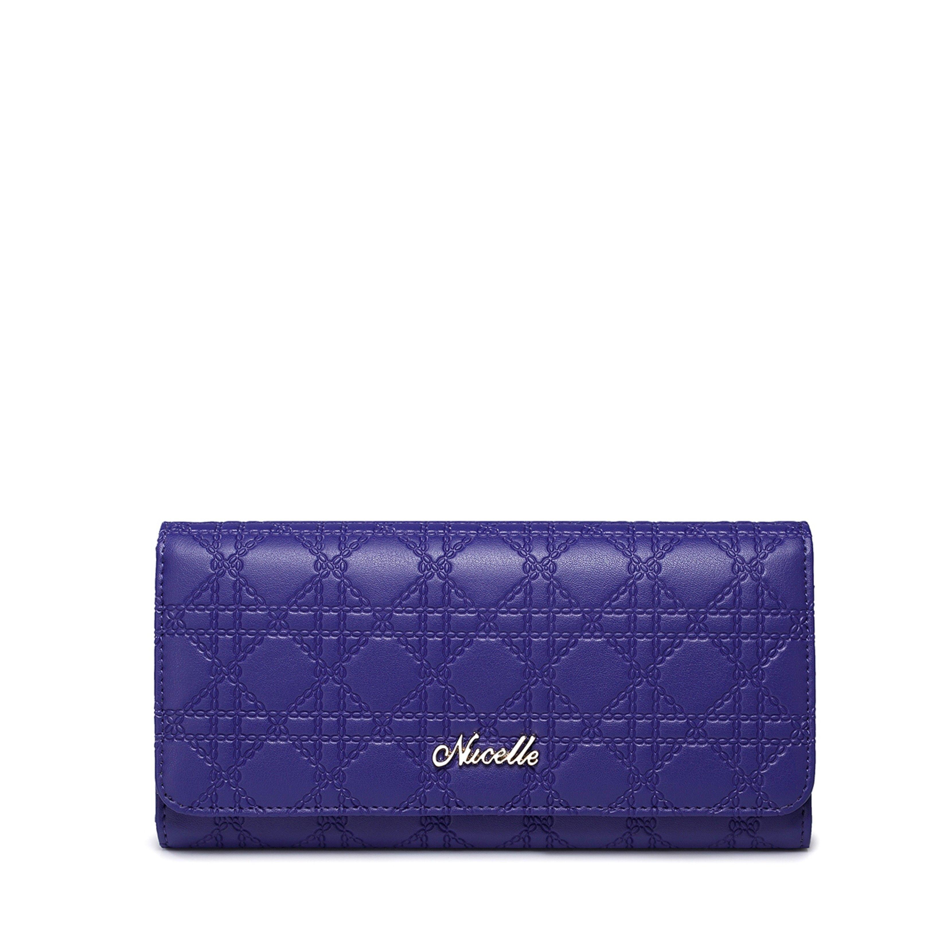 Krásna peňaženka Nucelle v žiarivej tmavofialovej farbe  4b18c8c3e4e