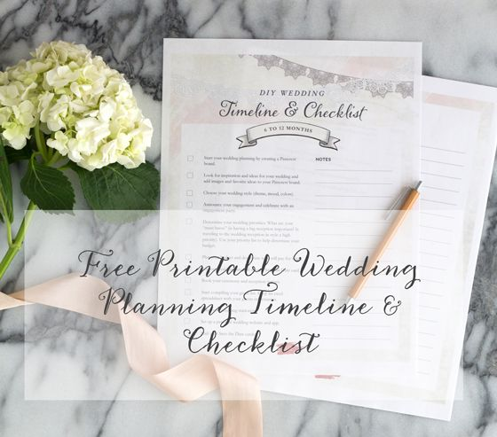 Free Printable Wedding Planning Timeline Checklist This is a must