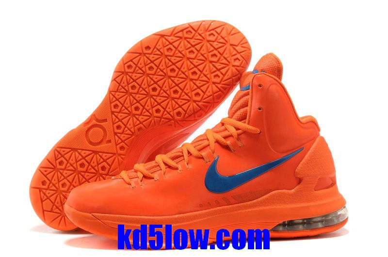 promo code d750a 9d53e Creamsicle Team Orange Blue Nike Zoom KD 5 554988 100 Kevin Durant  Basktball Shoes