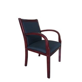 Shop For Boss Mahogany Wood Side Guest Chair. Get Free Delivery At  Overstock.com