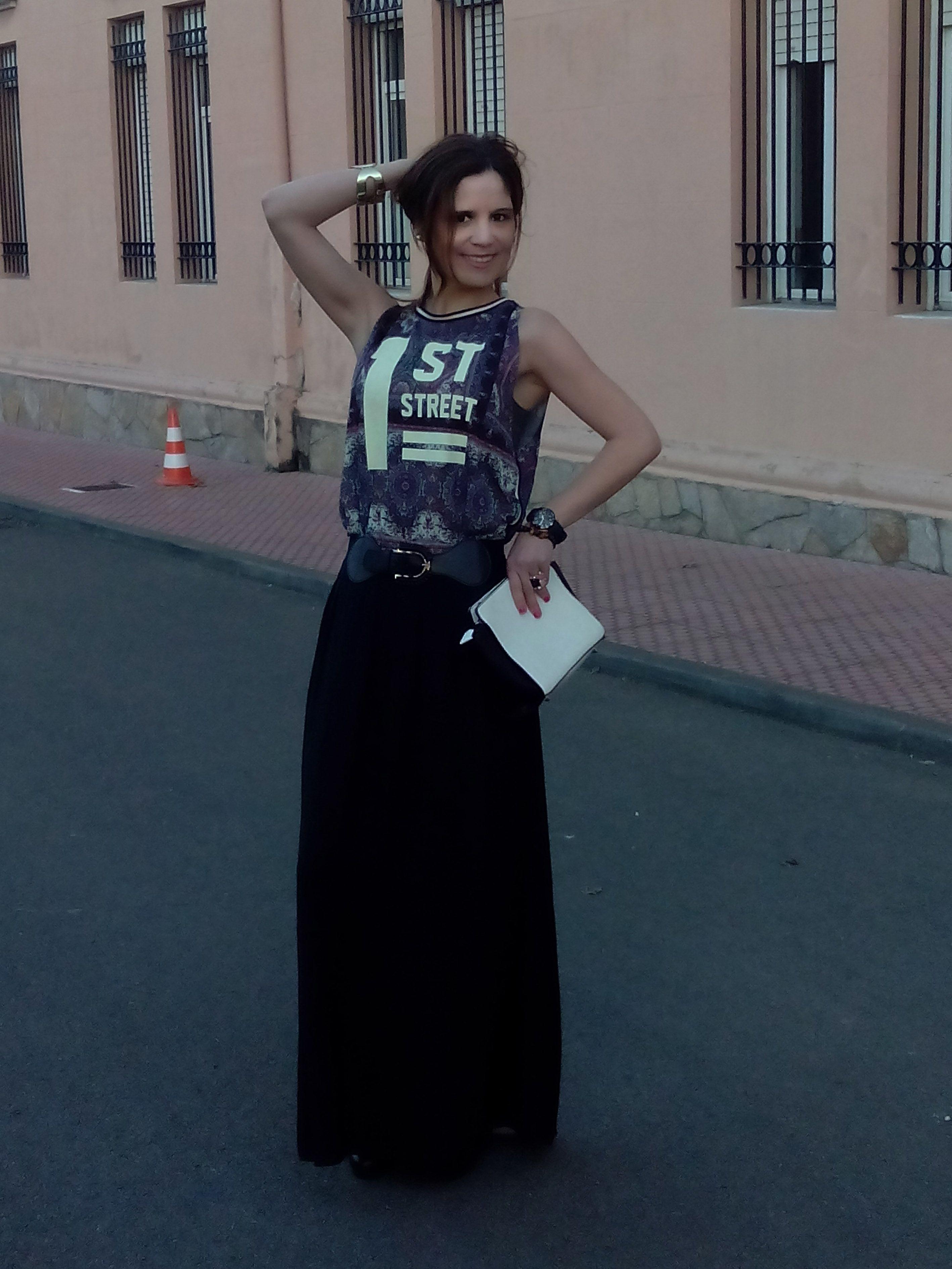 Falda black