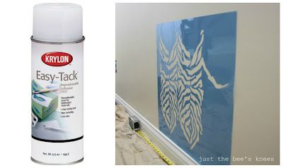 just the bees knees: Thibaut inspired stenciled wall