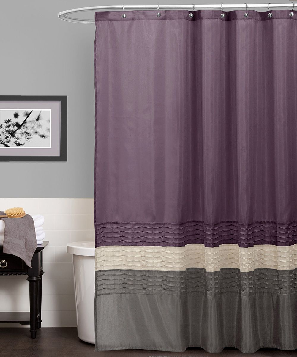 Purple u gray tess shower curtain casa de waterworth pinterest