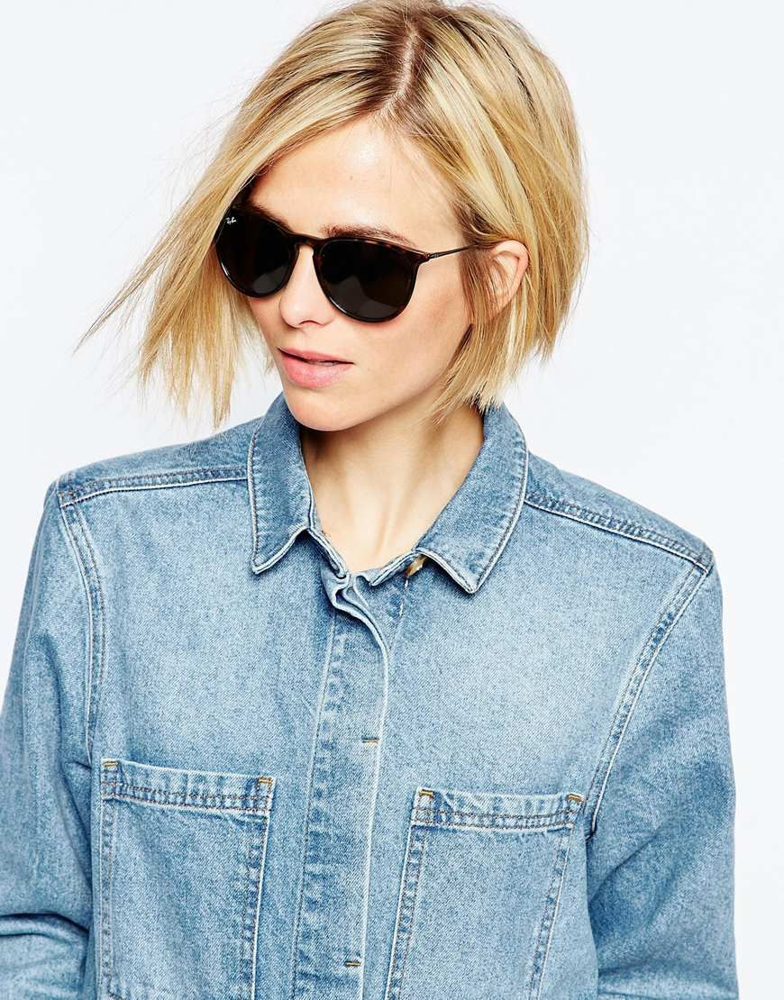 Image  of RayBan Round Erika Sunglasses  Ray ban outlet