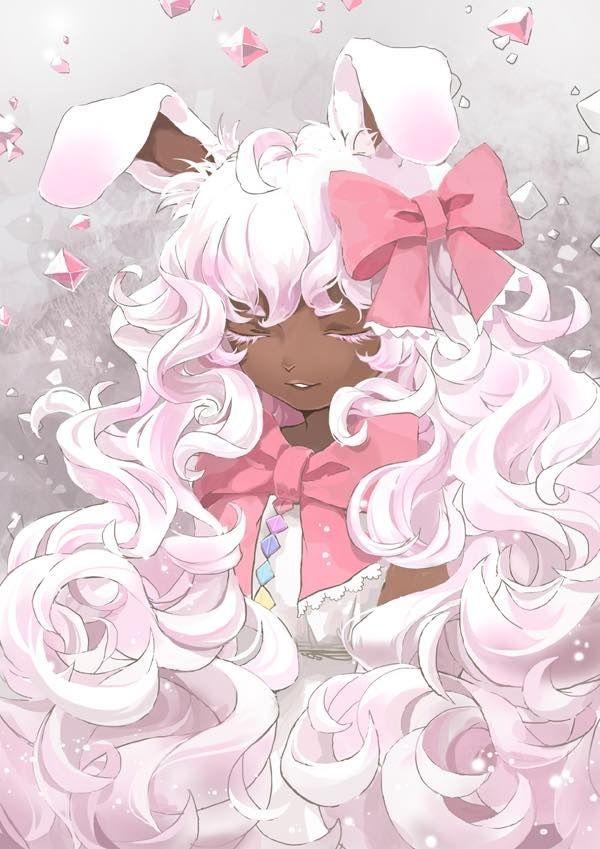 Brown Bunny Girl Black Anime Characters Anime Cute Art