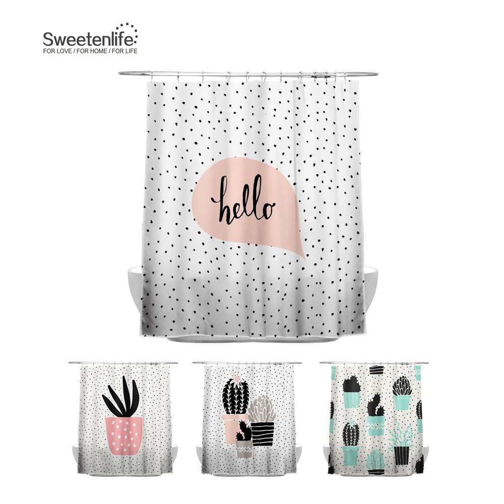 Cheap Waterproof Curtains Buy Quality Shower Curtain Cactus