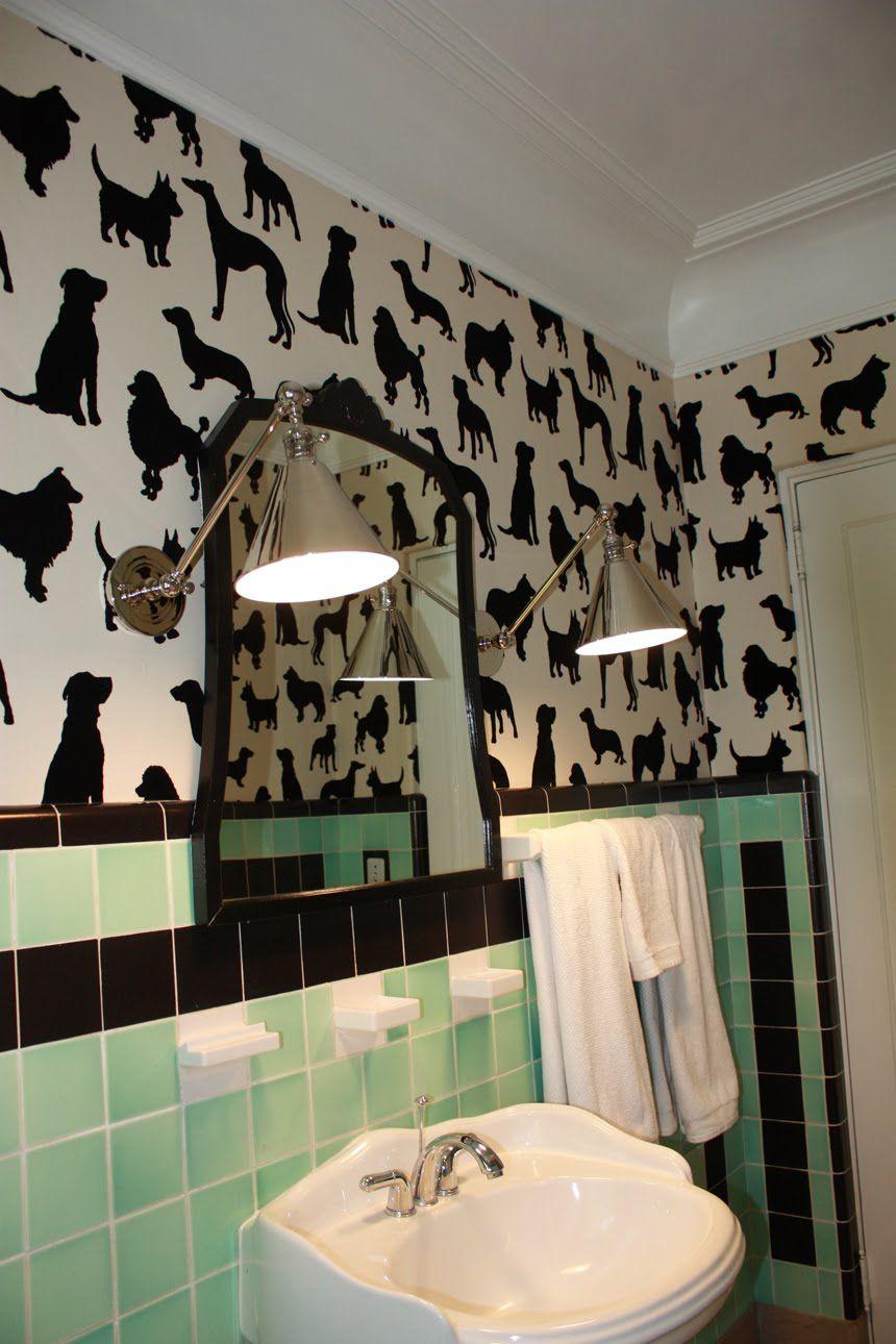 How Cool Retro Bathroom Love The Black Accents Retro