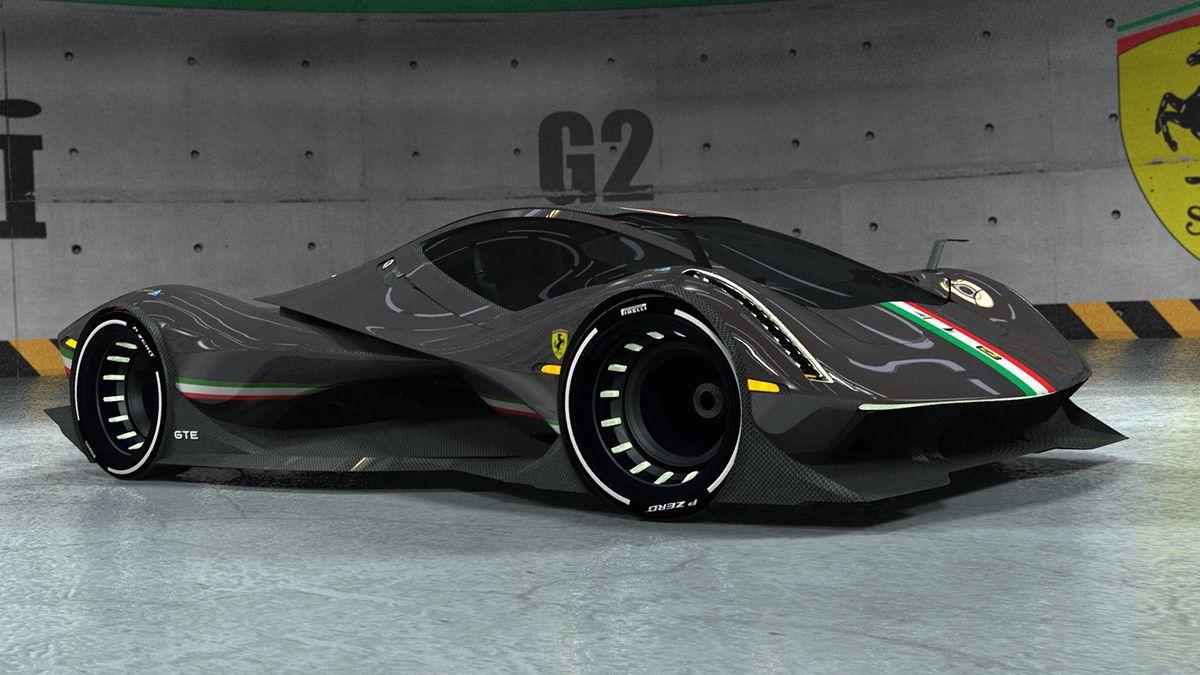 Ferrari Track Day Gte On Behance Concept Car Design Ferrari Sports Cars Luxury