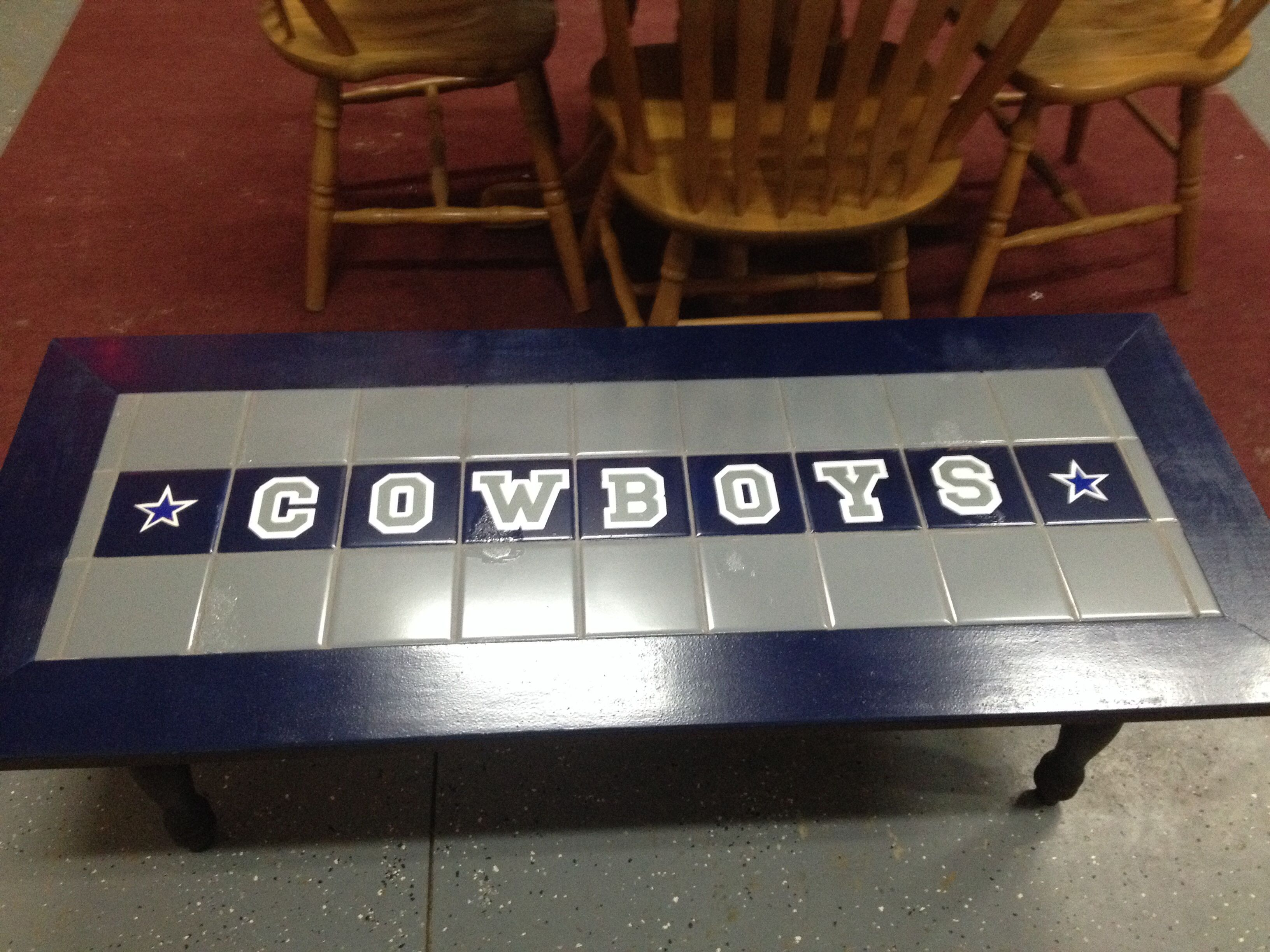 Dallas Cowboys Coffee Table DALLAS COWBOYS Pinterest